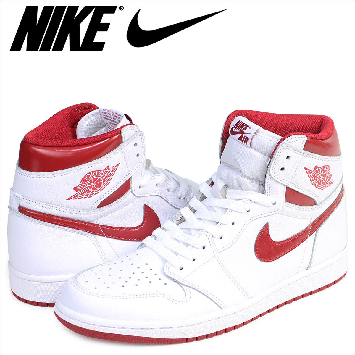 Nike Air Jordan 1 Retro High OG White Metallic Varsity Red 555088 103 Mens sz 13