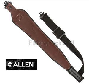 Allen-BakTrak-Leather-Rifle-Sling-Hunting-Shooting-8391-w-Swivels-Quick-Adjust