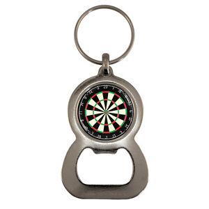 dart board silver tone bottle opener keyring darts pub. Black Bedroom Furniture Sets. Home Design Ideas