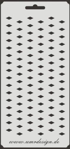 Scrapbooking galería de símbolos s-061 rombos ~ stencil ~ Conv-Design