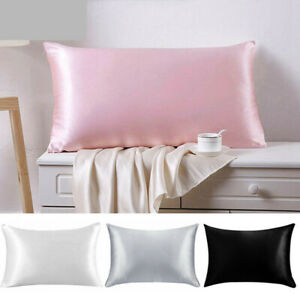 Soft-100-Mulberry-Pure-Silk-Pillowcase-Covers-Queen-Standard-Hair-Beauty