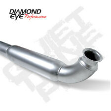 "Diamond Eye 4"" Alum Quiet Tone Down Pipe 01-07 Chevy GMC 6.6L Duramax Diesel"