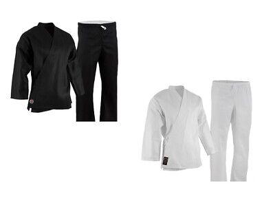 NEW Proforce Lightweight Karate Uniform Gi White Black w// White Belt ADULT /& KID