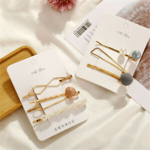 Fashion-Women-Gold-Bead-Geometry-Hairpin-Stick-Bobby-Hair-Clip-Hair-Accessories