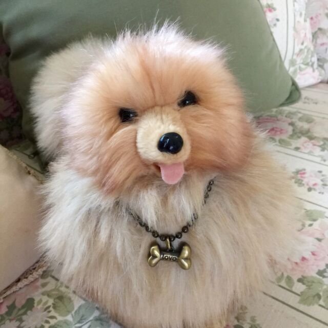 Rare Fuzzy Nation Love On A Leash Pomeranian Puppy Purse Handbag