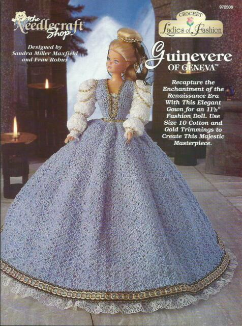 A081 The Needlecraft Shop 1997 Crochet Ladies Of Fashion Guinevere