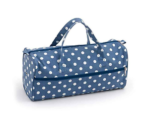 Knitting Bag Storage Bag for Knitting Wool Knitting Needles Crafts Jeans Polka