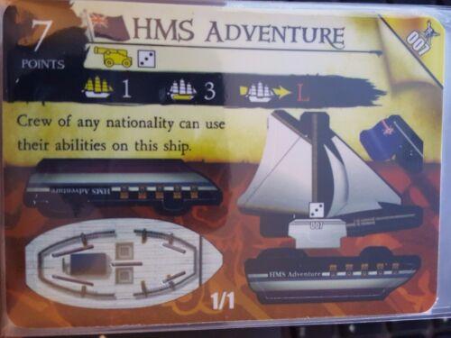 Wizkids Pirates of the Caribbean #007 HMS Adventure Pocketmodel CSG