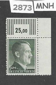 MNH-Adolph-Hitler-Third-Reich-stamp-1RM-1942-1944-WWII-Germany-Sc524a