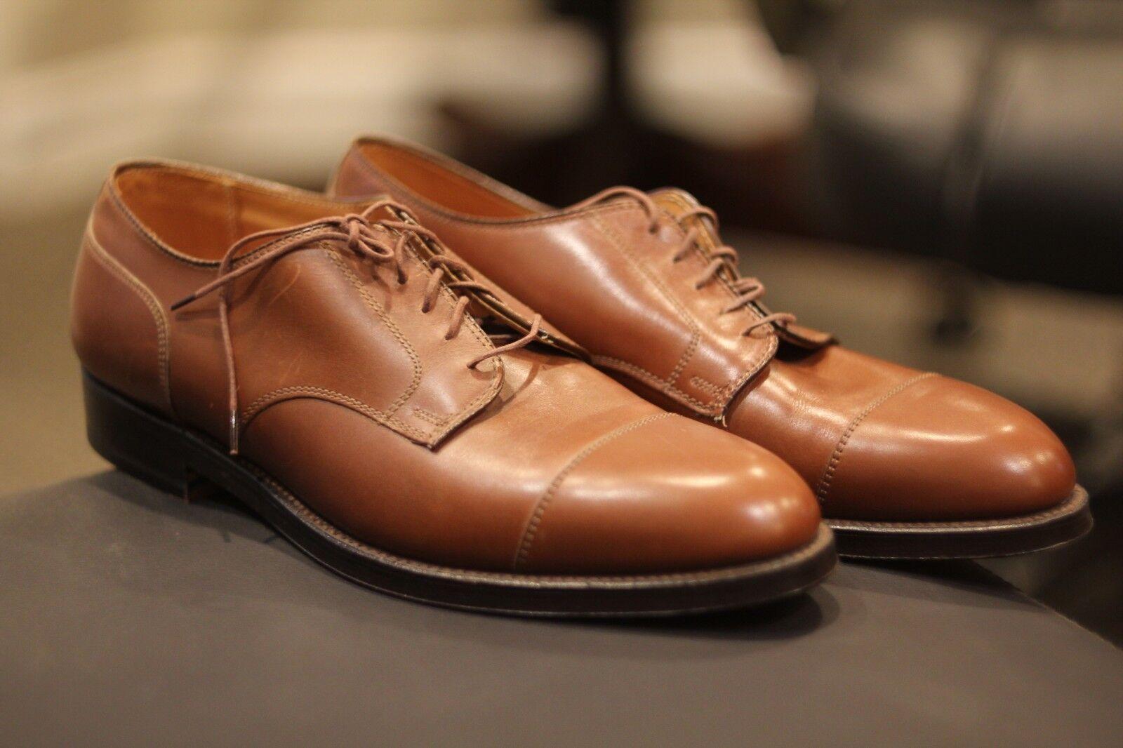 Alden 972 Homme marron Straight Tip Blücher Derby Veau Chaussures en Cuir SZ 10 C