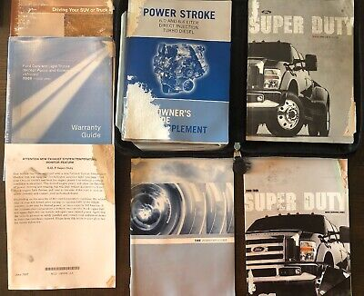 2014 Ford F250 F350 F450 Diesel Owners Manual Books Set Super Duty Truck 4X4 14