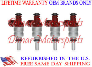 OEM Siemens Fuel Injector Set of 4 Lifetime Warranty