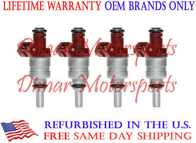 6900371 Rebuilt by Master ASE Mechanic USA OEM Siemens Fuel Injectors Set 4