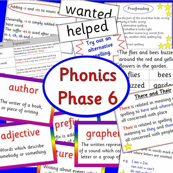 Phonics Phase 6 teaching resource pack-CD -KS1 / KS2