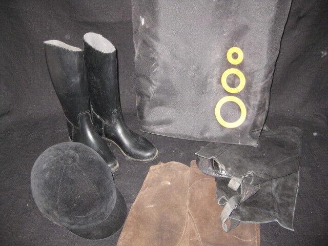 Batch Of Accessories For Horse Riding Boots 34 - Helmet - Bag - Good Condition