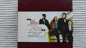 Details about Del Amitri Always The Last To Know (Very Rare/Near Mint) UK  Foldout Digi CD