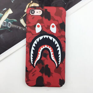 new arrival c5627 56c12 Details about For iPhone 6S 7 8 & Plus Shark Mouth Camo Camouflage Bape  Polish Hard Case Cover