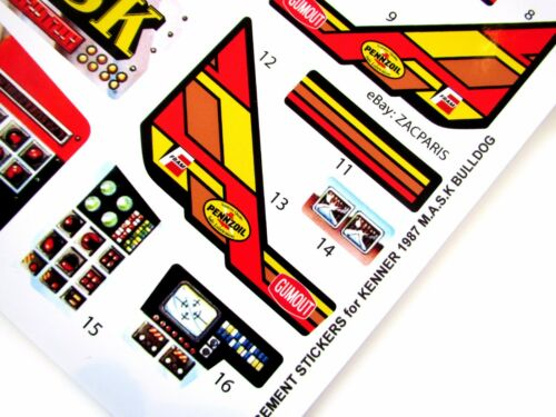 Stickers for KENNER M.A.S.K BULLDOG Bulldoze Stickers Personalized
