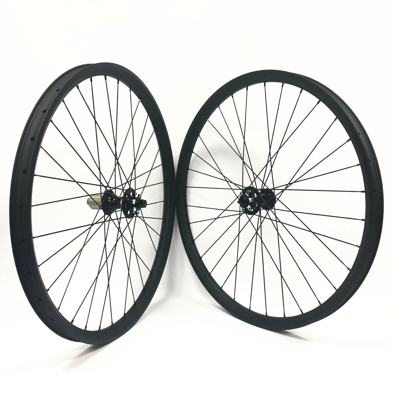 27.5er 650B Carbon wheelset 35mm width MTB carbon wheels Thru Axle beadless