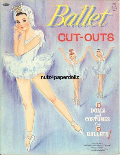 VINTGE 1964 BALLET SWAN LAKE PAPER DOLL ~ADORABLE LASER REPRODUCTIN~ORG SZ UNCUT