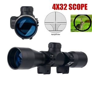 UUQ-Hunting-Tactical-4X32-Compact-223-308-Scope-Ring-Mount-Rangefinder-Reticle