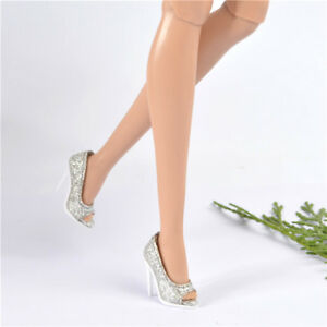 for-Fashion-royalty-FR2-Nu-Face-2-body-doll-shoes-pumps-silver-sexy-root-heel