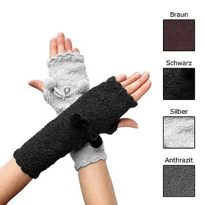 1 Paar Handstulpen Armstulpen Pulswärmer Stulpen Handschuhe fingerlos Farbe wähl