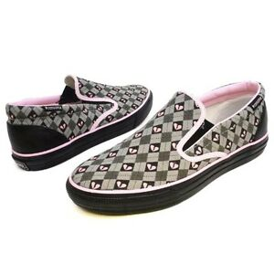 955a353855d2 Converse Skid Grip Ev Slip Grey Black Pink Slip On Shoes Size Mens ...