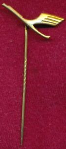 "Vintage LUFTHANSA Goldplate Airline Metal Pin ~Lapel Badge~ ""Plane Aircraft"""