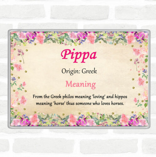 Pippa Name Meaning Jumbo Fridge Magnet Floral