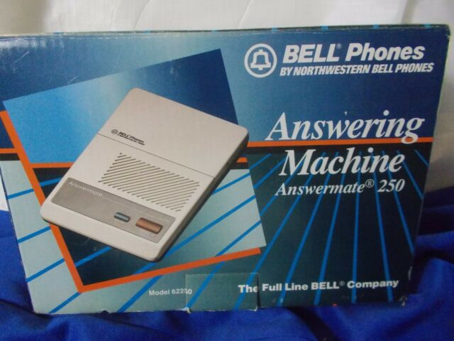 Bell Phones Answermate 250 Micro Cassette Answering Machine  62250 vintage