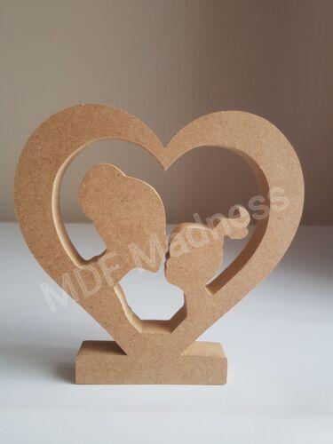 Mdf madre e hija Artesanía de madera forma diseño 2 Ideal para el día de las Madres