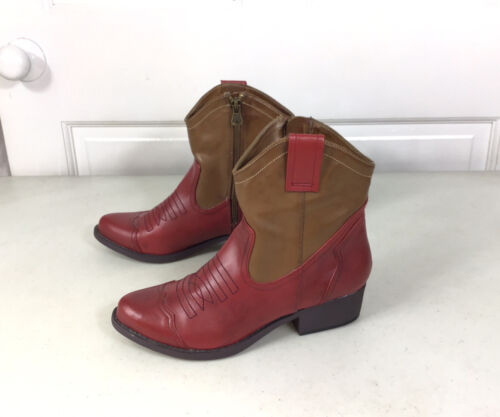 MIA Cowboy Ankle Boots Womens 7