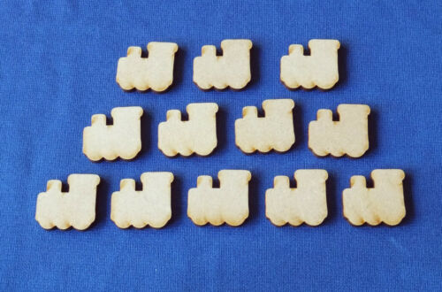 Mini Wooden MDF Craft Shapes Blanks Rocket Plane Helicopter Train ship