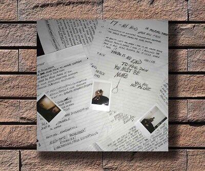 Hot XXXTentacion 17 Debut Album Music Cover Poster 14x14 24x24 Art Gift P-53