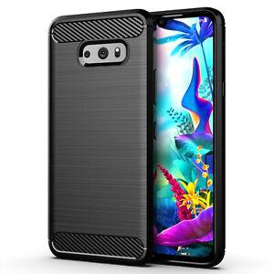 LG G8X ThinQ Carbon Hülle Schutzhülle TPU Case Bumper Outdoor Handy Tasche Cover