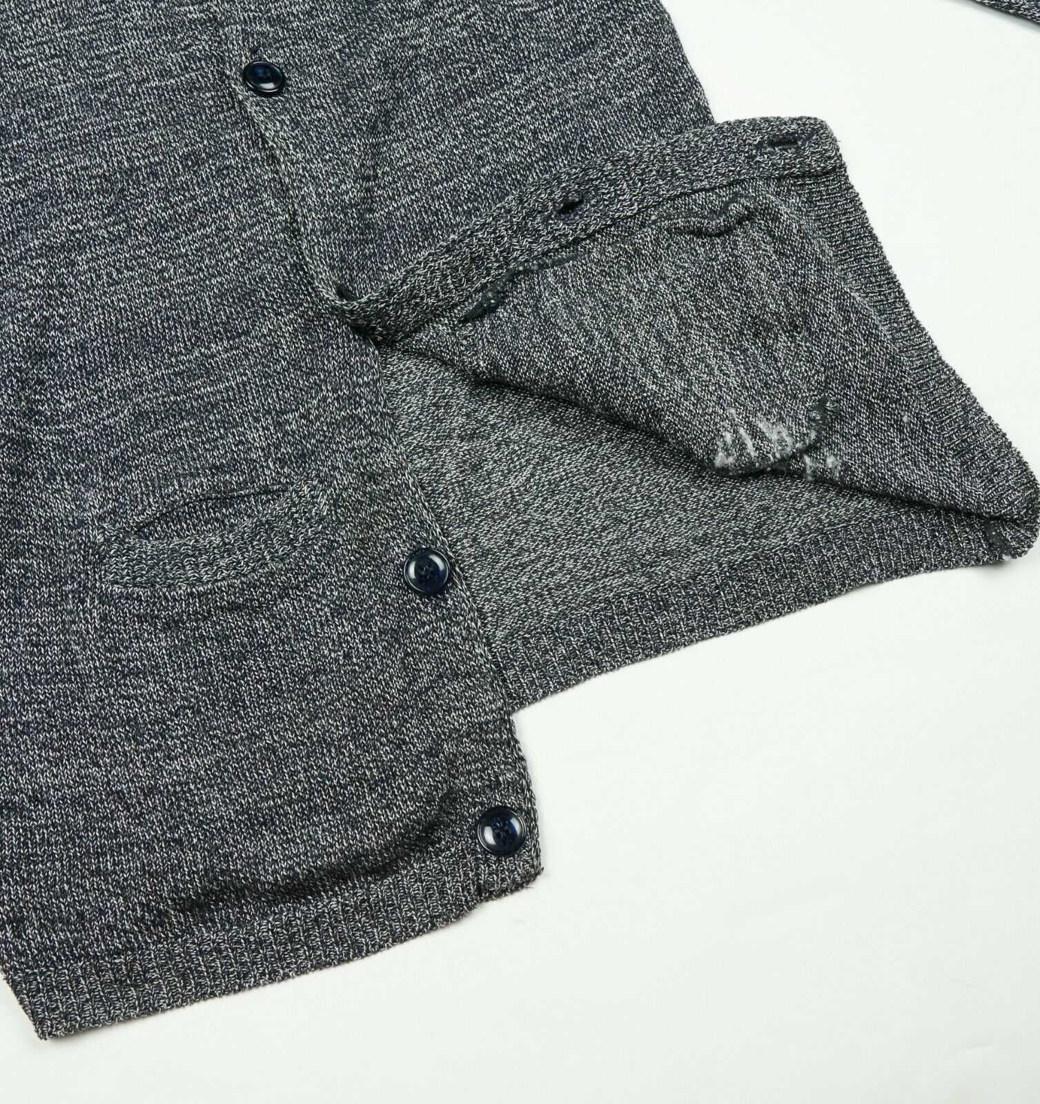 Blue Blue Japan Cotton Rayon Pure Indigo Knit Car… - image 8