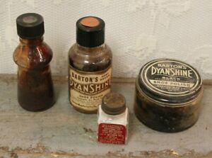 Lot Of Vintage Shoe Polish Jars And
