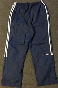 Vtg-90s-Adidas-Track-Pants-XL-Navy-Workout-Striped-Warm-Up-Basketball-Athletic