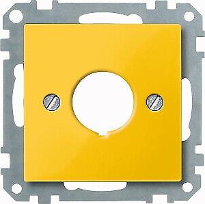 Merten centrales plaque Not-Interrupteur jaune Einloch Fixation 393803