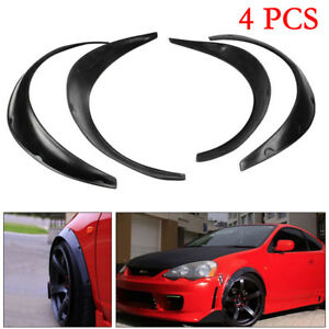 4PCS-Universal-Car-SUV-Black-Exterior-Fender-Flares-Polyurethane-PU-Kit-Superior