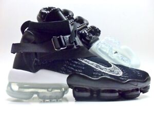 7f5343606ded Image is loading NIKE-AIR-VAPORMAX-PREMIER-FLYKNIT-BLACK-METALLIC-SILVER-