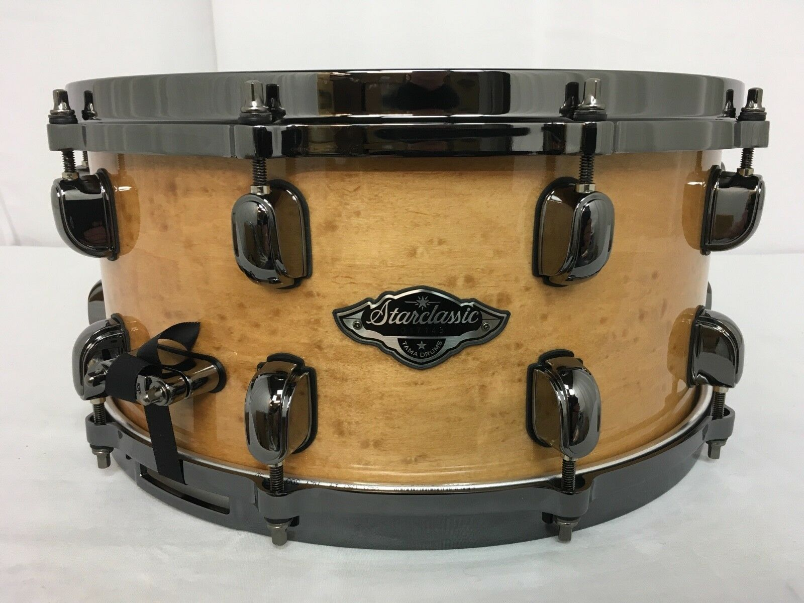 Tama Starclassic Birch Bubinga 14  X 6.5  Snare Drum Figuröd Natural Maple NEW