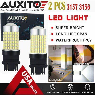 2X Reverse Backup Lights 3057 3157 4057 144SMD WHITE High Power LED Bulbs 2800LM