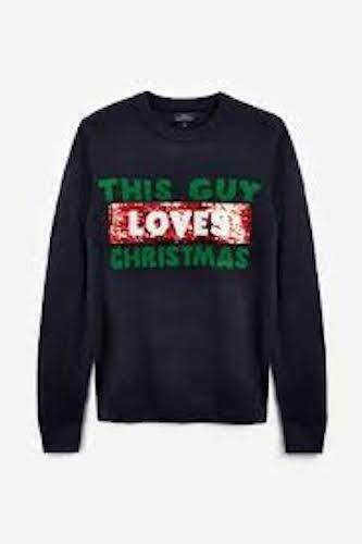 Christmas Jumper This Guy Loves//Hates Christmas Size XS