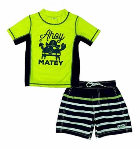 Carter's Infant Boys 2pc Rashguard Swim Short Set Size 3/6M 6/9M 12M 18M 24M $36