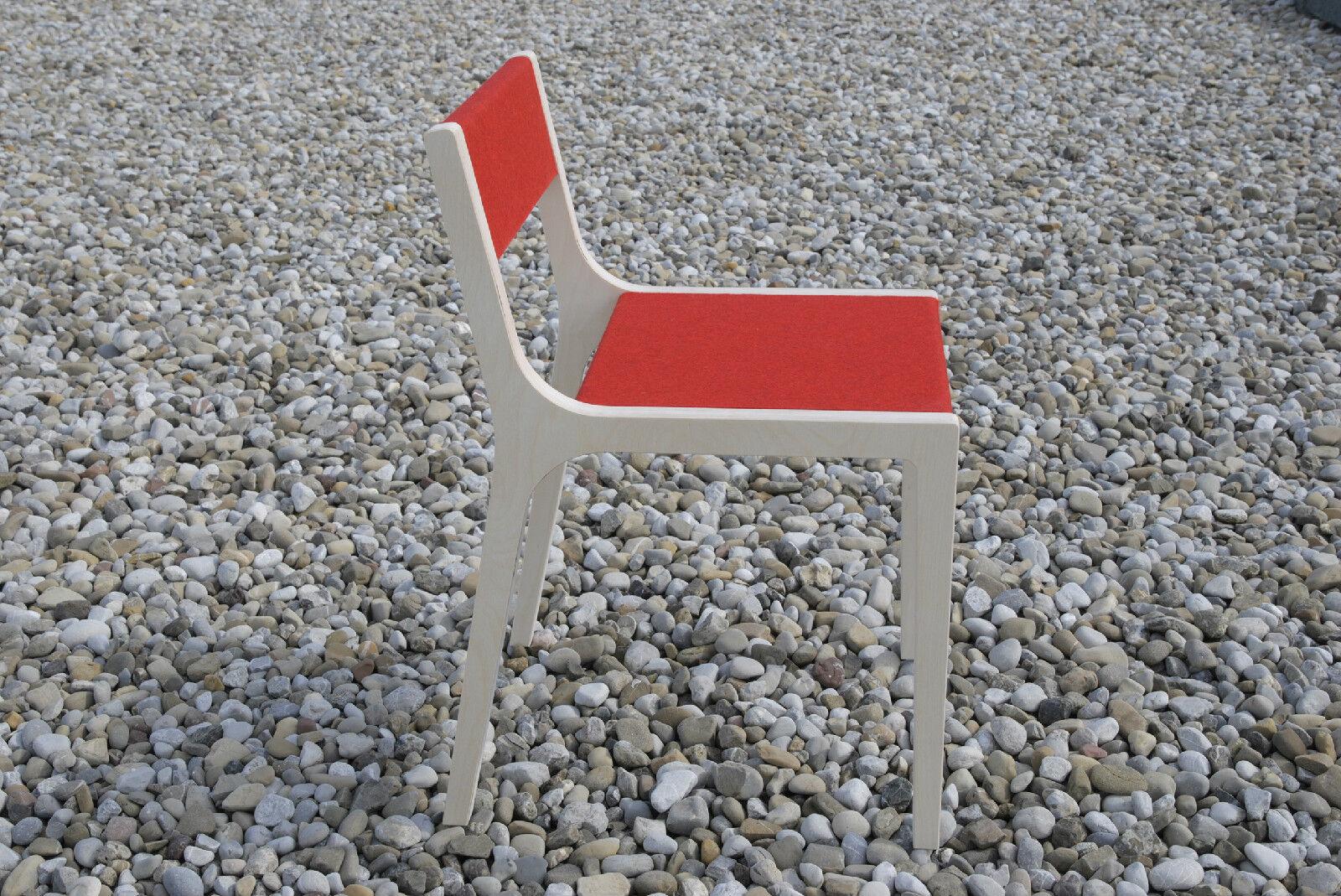 Sirch Slavomir chaise bois + ROUGE pour les enfants à partir de 6 ans S'adapte à Vaclav Table NEUF