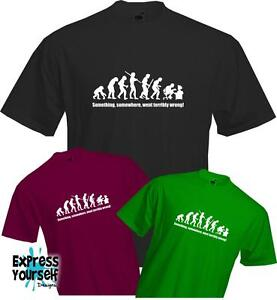 SOMETHING-WENT-WRONG-EVOLUTION-T-Shirt-Computer-Gaming-Cool-Fun-Quality-NEW