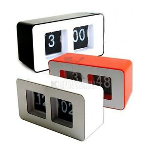 Fashion desk retro automatic flip clock classic black White flip clock