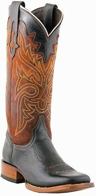 Lucchese M3609 Womens Black Oil Calf Leather Western Horseman Cowboy Boots